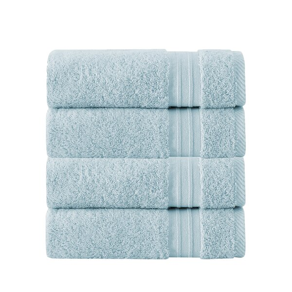Laramie 4 Piece 100% Cotton Hand Towel Set (Set of 4) by Greyleigh